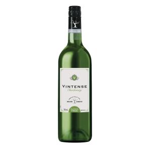 Vintense Chardonnay alcoholvrije witte wijn, doos van 6 flessen van 0,75 l