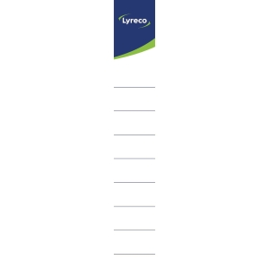 Lyreco auto-adhesive spine labels 40 mm - pack of 10