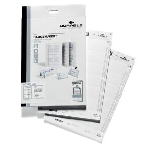 Durable 1452 insteekkaarten voor badge 60x40mm - 18 per vel - doos van 360