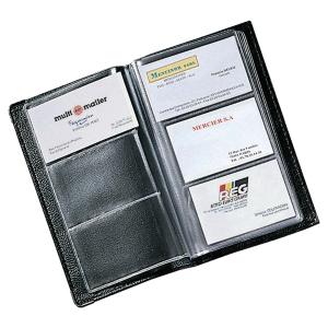 Visitekaartmap voor 120 kaarten zwart