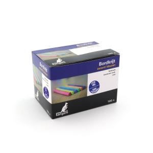 Stofvrij krijt assorti kleuren - doos van 100 stuks