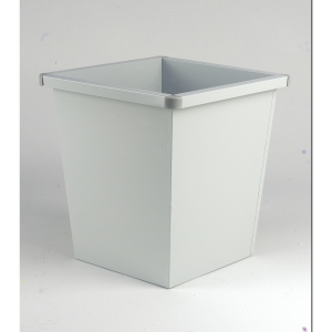 Waste bin metal squared 27 litres grey