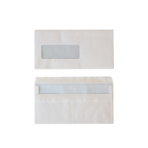 Standard envelopes 114x229mm self seal window left 80g - box of 500