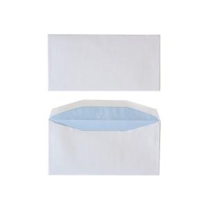 Standard envelopes 114x229mm gummed 80g - box of 500