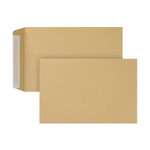Bags 160x240mm peel and seal 90g brown - box of 250