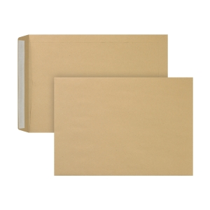 Bags 230x310mm peel and seal 90g brown - box of 250