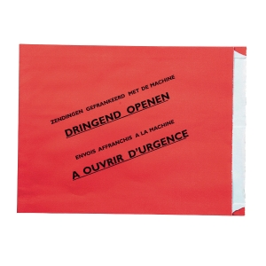 Special envelopes registered shipment Belgium 240x300x35mm red - box of 500
