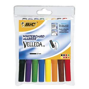 Bic® Velleda 1741 whiteboard marker, ronde punt, assorti kleuren, per 8 markers