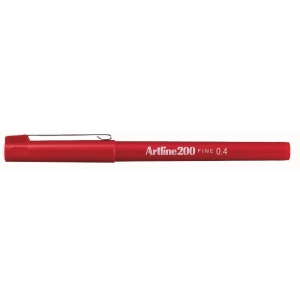 Artline Fineliner 200 0,4mm rood
