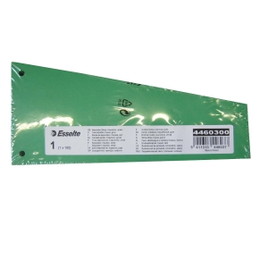 Esselte divider trapeze cardboard 220gr green - pack of 100