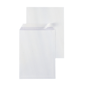 Bags 229x324mm peel and seal 120g extra white - box of 250