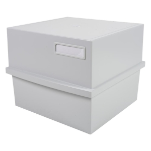Exacompta Card box for 500 system cards A5 light grey