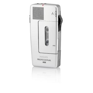 Philips LFH 488 dictafoon analoog met etui en dasmicrofoon