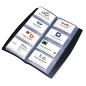 Elba visitenkaartmap voor 240 kaarten zwart