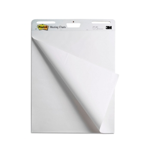 Post-it® Super Sticky Zelfklevende Meeting Chart Wit, 2 blokken, 635 mm x 775 mm