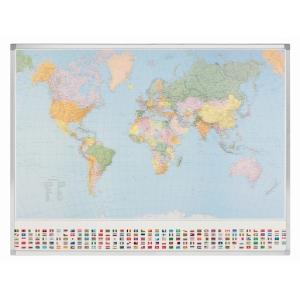Legamaster politieke wereldkaart, 142 x 98 cm