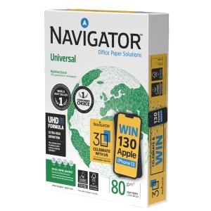 Navigator Universal premium papier A4 80g - 1 doos = 5 pakken van 500 vellen