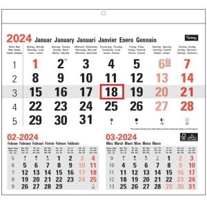 Lyreco maandkalender 29x28cm