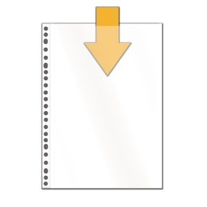 Multo 7348010 standard punched pockets 14/100e PP cristal clear - pack of 10