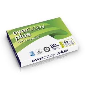 Evercopy Plus gerecycleerd papier A3 80g - 1 doos = 5 pakken van 500 vellen