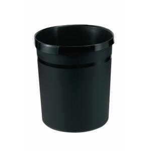 Han waste bin plastic 18 litres black