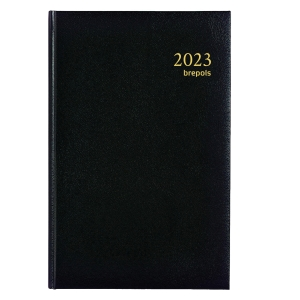 Brepols Saturnus 221 bureau-agenda met Lima omslag zwart