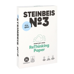 Steinbeis PureWhite recycled paper A4 80g - 1 box = 5 reams of 500 sheets