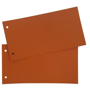 Lyreco Premium rectangle dividers cardboard 250g orange - pack of 250