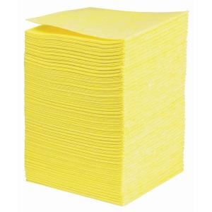 Poetsdoek non-woven, 38 x 40 cm, geel, pak van 50 stuks