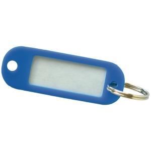 Sleutelhangers kunststof blauw - pak van 20