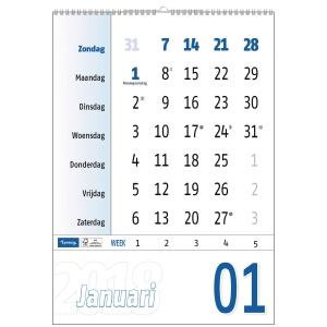 Lyreco maandkalender 29,7x42cm
