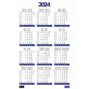 Lyreco jaarposter kalender 43x62cm