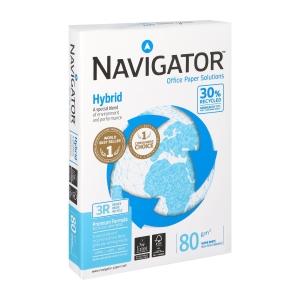 Navigator Hybrid gerecycleerd papier A4 80g - 1 doos = 5 pakken van 500 vellen