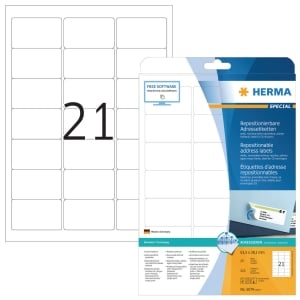 Herma 5074 herpositioneerbare etiketten 63,5x38,1mm - doos van 525