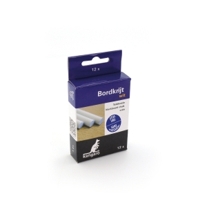 Stofvrij krijt wit - doos van 12 stuks