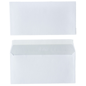 FSC envelopes 110x220mm peel and seal 80g - box of 500