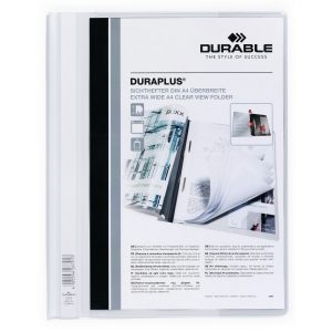 Durable Duraplus 2579 personalised project file A4 PVC white