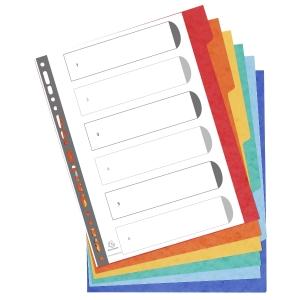 Exacompta extra brede neutrale tabbladen 6-tabs karton 23-gaats