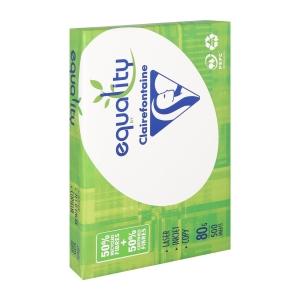 Equality gerecycleerd papier A4 80g - 1 doos = 5 pakken van 500 vellen