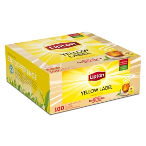 Lipton theezakjes Yellow Label - doos van 100