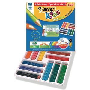 Bic Kids Evolution kleurpotloden assorti - klaspak van 144