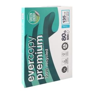 Evercopy Premium gerecycleerd papier A4 80g - 1 doos = 5 pakken van 500 vellen