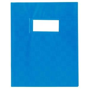 Schriftomslag met etikethouder A5 blauw