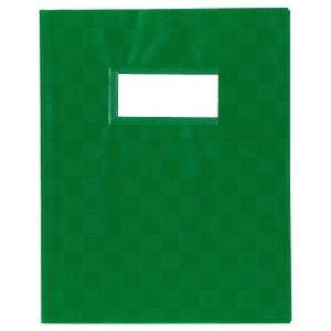 Schriftomslag met etikethouder A5 groen