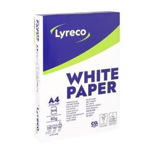 Lyreco wit papier FSC A4 80g - 1 doos = 5 pakken van 500 vellen