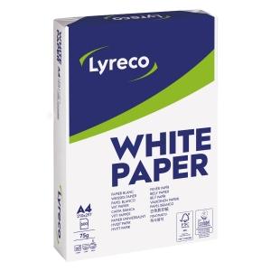 Lyreco wit papier FSC A4 75g - 1 doos = 5 pakken van 500 vellen