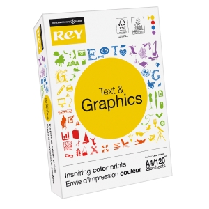 Rey Text & Graphics wit A4 papier, 120 g, per 250 vellen