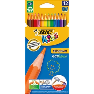 Bic Kids evolution kleurpotloden - pak van 12