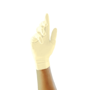 Unicare soft wegwerphandschoen latex gepoederd  transp - maat L - Doos van 100