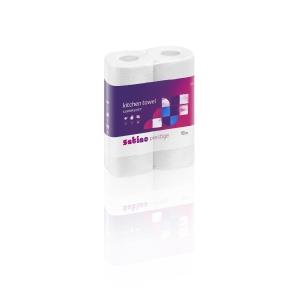 Satino Premium keukenrol, 51 vellen, 2-laags, wit, pak van 32 rollen